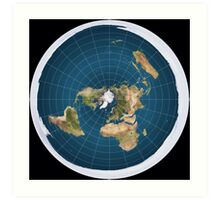 The truth, flat earth ,  Art Print