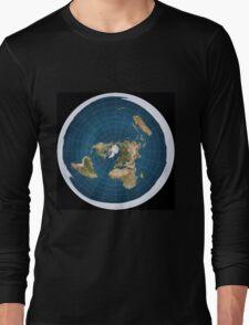The truth, flat earth ,  Long Sleeve T-Shirt