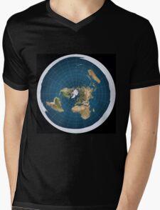 The truth, flat earth ,  Mens V-Neck T-Shirt