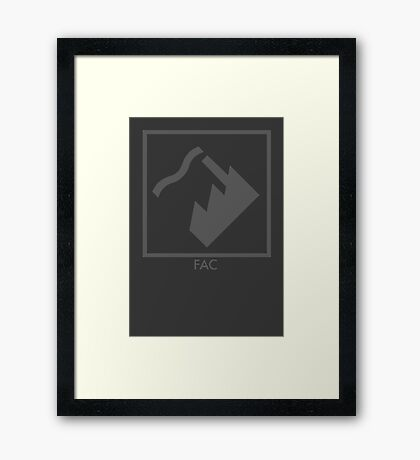 Record Label 4 (grey) Framed Print