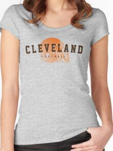Cleveland Football Women's Fitted Scoop T-Shirt
