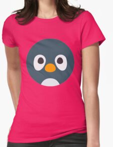 Cute Cartoon Penguin Face Womens Fitted T-Shirt