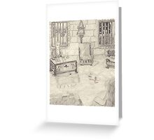The Drawing Room In The Medieval Castle Greeting Card