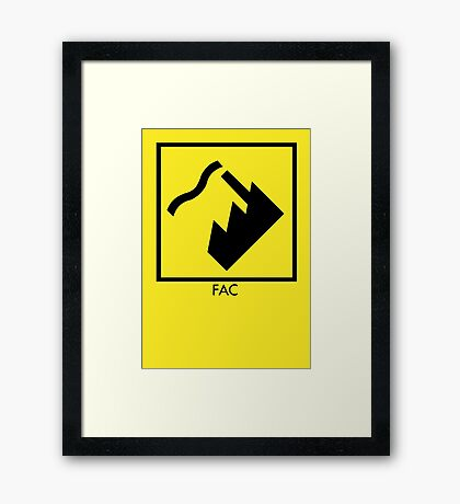 Record Label 4 (black) Framed Print