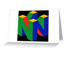 N64 Logo (Without Text) Greeting Card