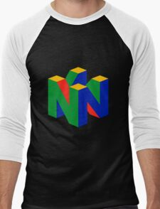 N64 Logo (Without Text) Men's Baseball ¾ T-Shirt