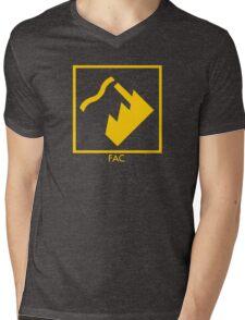 Record Label 4 (yellow) Mens V-Neck T-Shirt