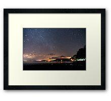 Stars on the volcano Framed Print