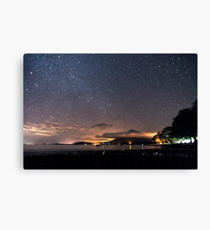 Stars on the volcano Canvas Print