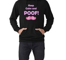 Keep Calm and POOF! Lightweight Hoodie
