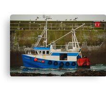Trawler Scotland UK Canvas Print