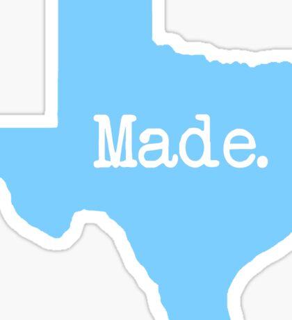 Texas Made TX Blue Sticker