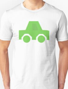 Green Car, Silhouette Unisex T-Shirt