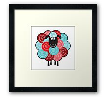 Curly the Sheep Framed Print
