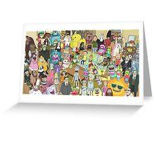 Zany Characters Greeting Card