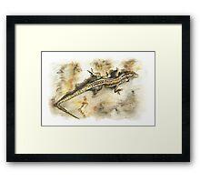 Brianag, the Ancient Lizard Framed Print