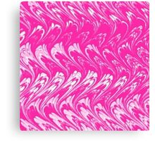 Vintage Swirls and Waves Pink and White Canvas Print