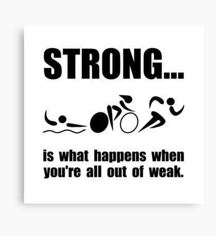 Triathlon Strong Canvas Print