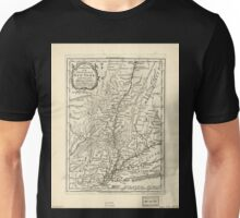 American Revolutionary War Era Maps 1750-1786 939 The southern part of the Province of New York with part of the adjoining colonies Unisex T-Shirt