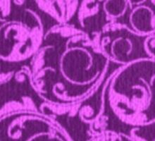 Vintage Swirls Winterberry and Orchid Purple Sticker