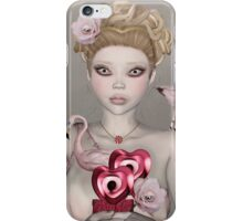 Surreal portrait of a woman with big eyes iPhone Case/Skin