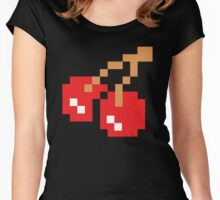 8-Bit Cherry Women's Fitted Scoop T-Shirt