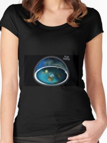 It's flat the earth,#flat earth  Women's Fitted Scoop T-Shirt