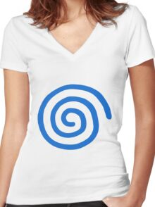 Dreamcast Logo (European; No Text) Women's Fitted V-Neck T-Shirt