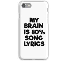 Famous Pop Song Lyrics Music iPhone Case/Skin