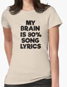 Famous Pop Song Lyrics Music Womens Fitted T-Shirt
