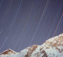 Star trails over Mount Everest Nepal Sticker