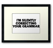 Geek Grammar School Smart Funny T-Shirts Framed Print