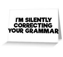 Geek Grammar School Smart Funny T-Shirts Greeting Card