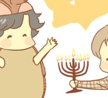 Hanukkah & the Holiday Armadillo Sticker