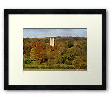 Church spire amid autmnal scene England UK Framed Print