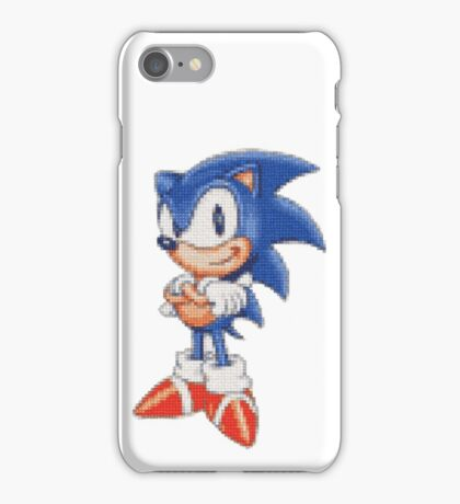 Cross Stitch Pixel Sonic The Hedgehog iPhone Case/Skin