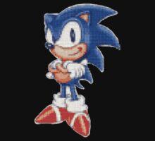 Cross Stitch Pixel Sonic The Hedgehog One Piece - Long Sleeve