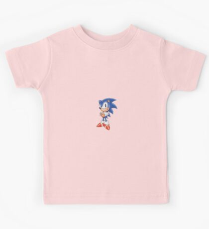 Cross Stitch Pixel Sonic The Hedgehog Kids Tee