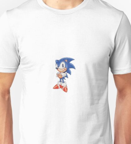 Cross Stitch Pixel Sonic The Hedgehog Unisex T-Shirt