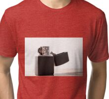Black matte zippo lighter Tri-blend T-Shirt