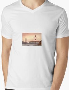 Golden gate bridge Mens V-Neck T-Shirt