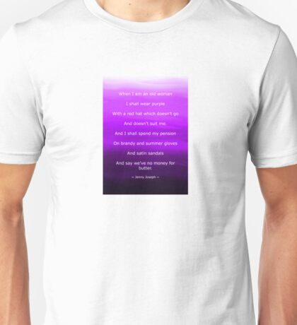Shades of Purple with Purple Poem Unisex T-Shirt