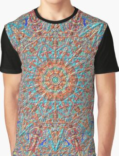 Star Shapes And Triangle Cloth Kaleidoscope Graphic T-Shirt