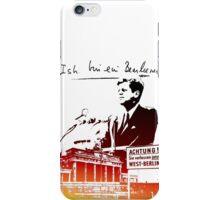 Ich bin ein Berliner, Berlin Wall, T-shirt iPhone Case/Skin
