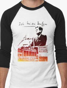 Ich bin ein Berliner, Berlin Wall, T-shirt Men's Baseball ¾ T-Shirt
