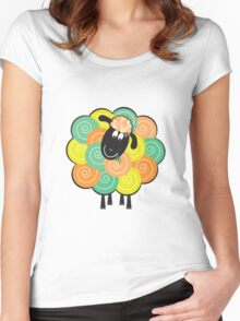 Curlier the Sheep Women's Fitted Scoop T-Shirt