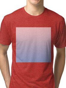 Rose Quartz to Serenity Blue Gradient Tri-blend T-Shirt
