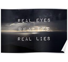 Flat earth,plane sight Poster