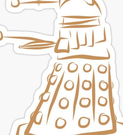 Dalek pattern Sticker