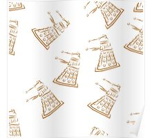Dalek pattern Poster